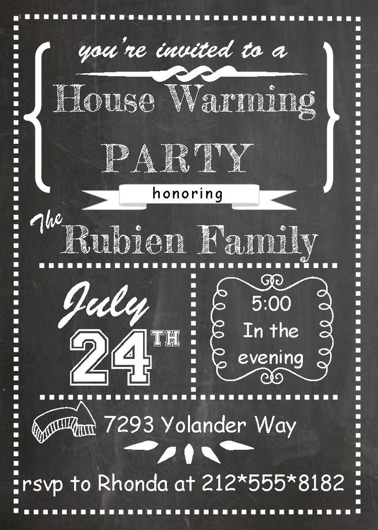 Best House Warming Party Invitaitons Images On