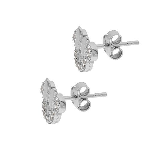 e962c02a3 Disney Minnie Mouse Sterling Silver Cubic Zirconia Stud Earrings Official  Licensed Disney Women's & Girls