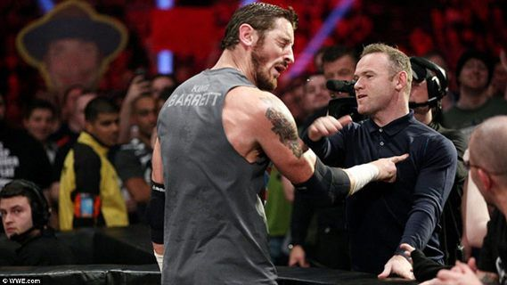Welcome To Chitoo's Diary.: What ??? Wayne Rooney slaps WWE Wrestler Wade Barr...