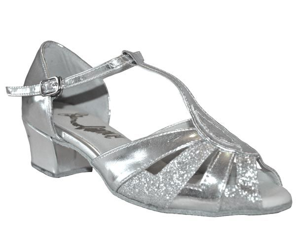 Style Sally Silver Patent and Glitter