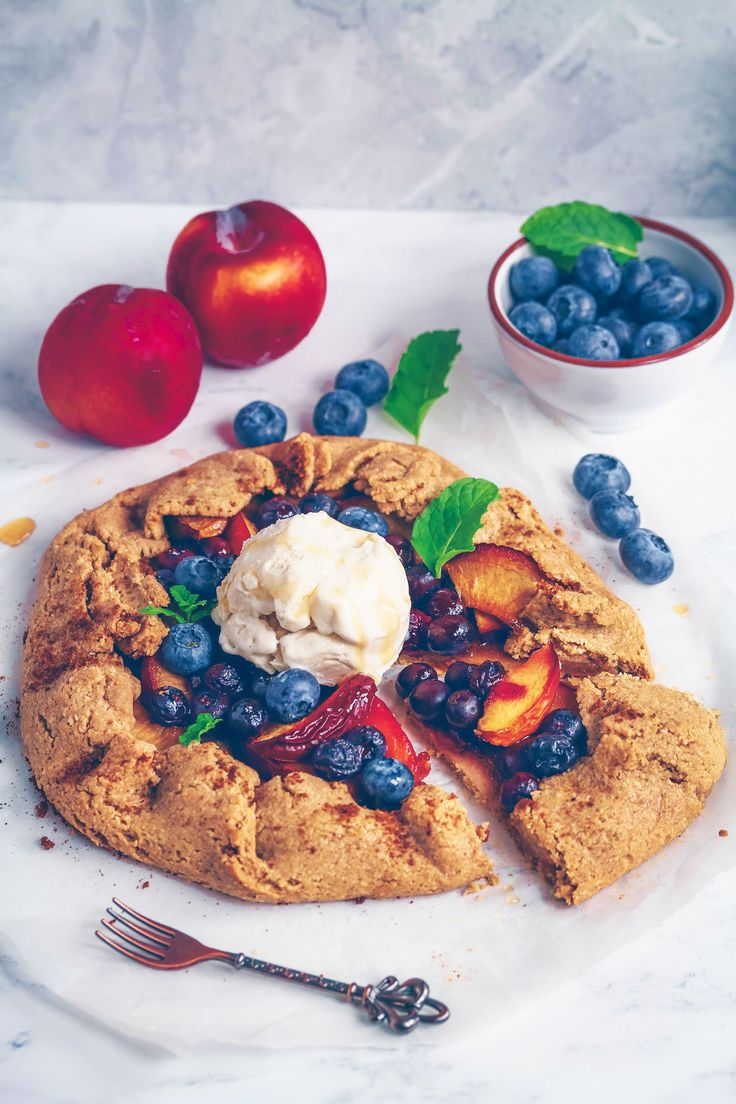Plum Blueberry Galette (Vegan & Gluten-free) - UK Health Blog - Nadia's Healthy Kitchen