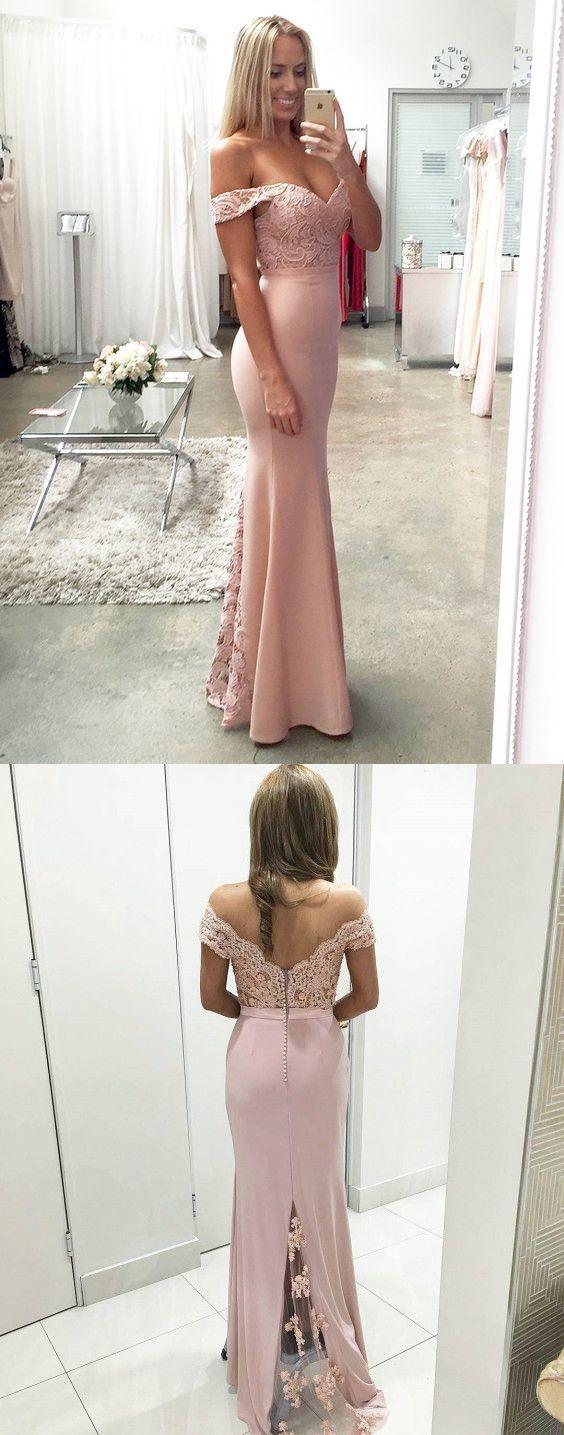 Mermaid Long Pink Prom Dress Evening Dress Wedding Party Dress