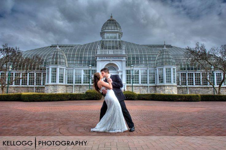 Franklin Park Conservatory Wedding Photo