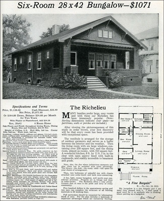 1916 Classic Small Craftsman Bungalow Sterling Homes