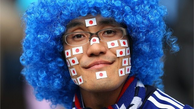 A Japan fan shows his colours #Olympics2012 Olympics