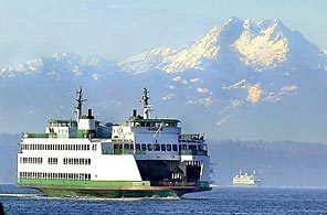 Bremerton ferry to Seattle.  There is no better view of Seattle then out on the Sound! <3 Washington State!