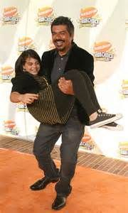 George Lopez and his daughter Mayan a few years younger