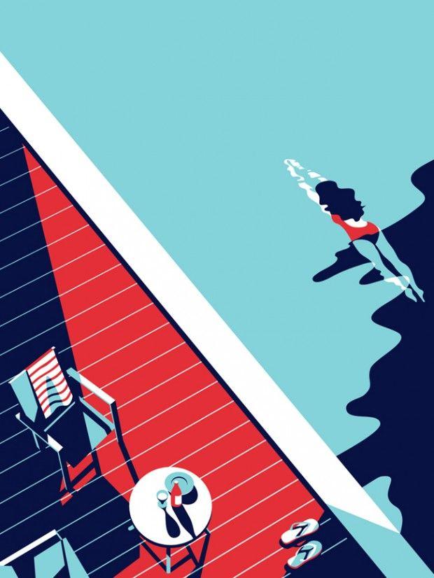 Illustrations de Malika Favre - Journal du Design >> Faites de vos murs, votre décor avec www.vivamural.com !
