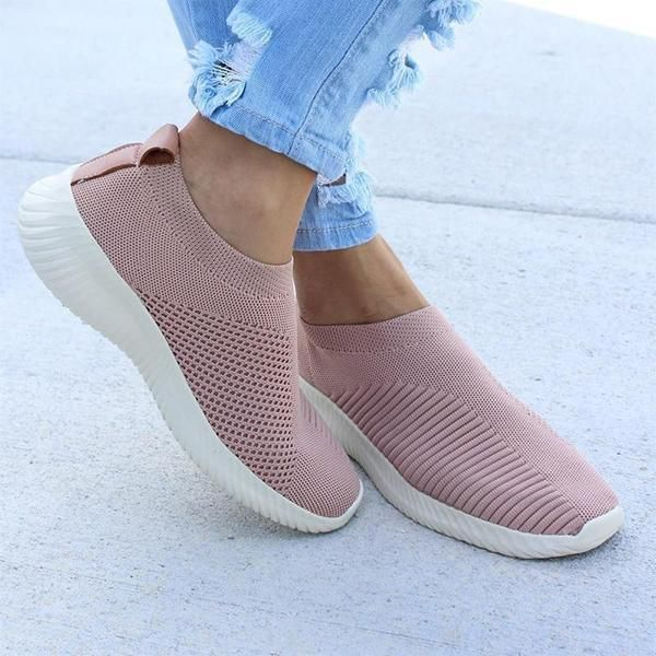 Breathable Fly knit Slip On Sneakers | Slip on sneakers