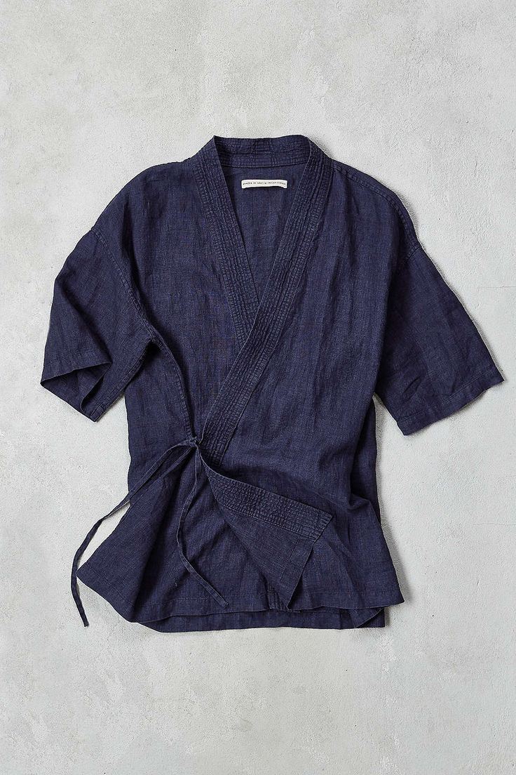 Maybe? Probably more FG. | Shades Of Grey By Micah Cohen Side Tie Kimono Shirt