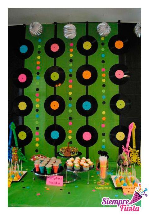 78 best images about fiesta musical de hannah montana on - Fiesta cumpleanos infantil ...