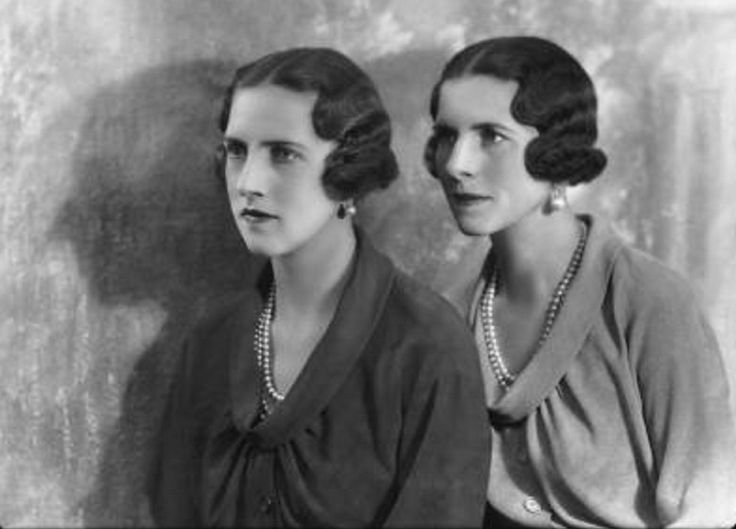 Queen Helen of Romania and Irene, Duchess of Aosta; born Princesses of Greece.