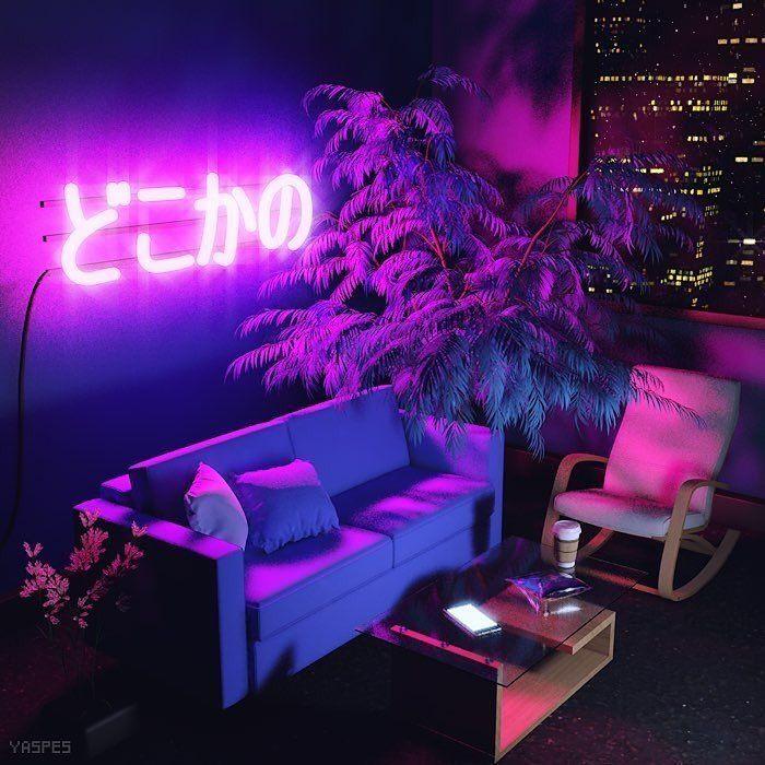 Neon Room Retro Aesthetic Decor