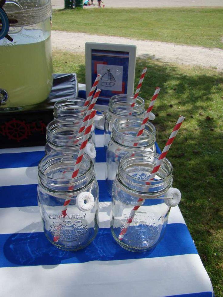 Nautical Birthday Party Ideas | life savers around drinks is super cute