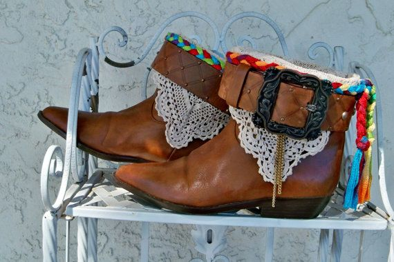 Upcycled leather boots, Free People Luxury Jones inspired, cowboy chic, boho boots, restyled boots Size 8