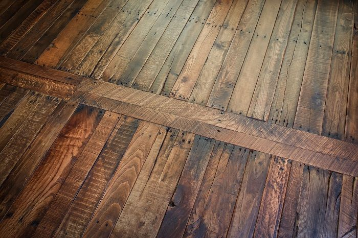 Pallet Wood Flooring - iCreatived