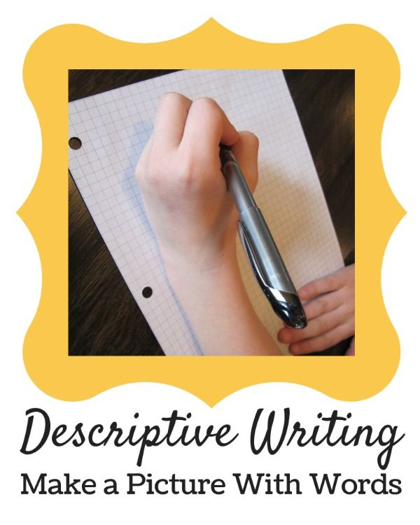 A simple descriptive writing activity for home or school.