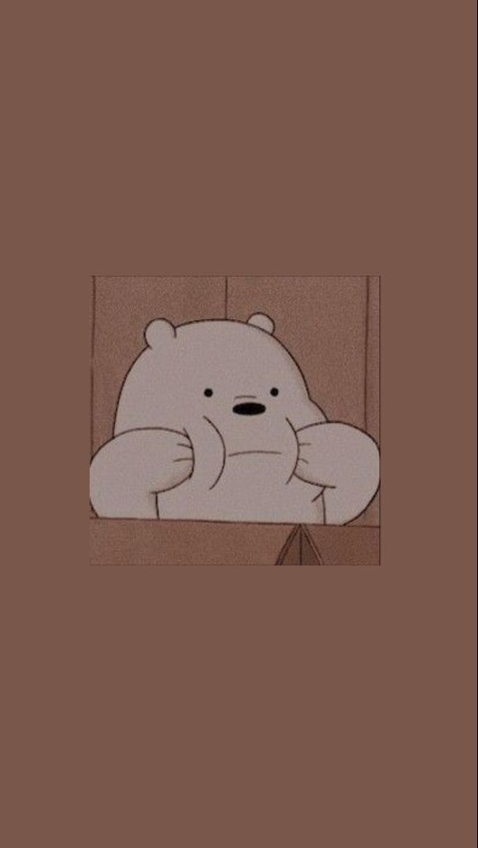 Bare Bears Wallpaper Ilustrasi Karakter Kartun Menggambar Kupu Kupu Aesthetic wallpaper cartoon bear