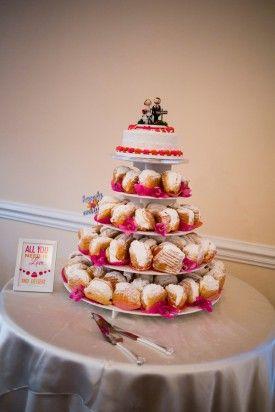 Wedding Dessert Tower Tori Nefores Photography 275x412 Maryland Inspired Wedding Reception in Clarksburg: Mary + Kevin
