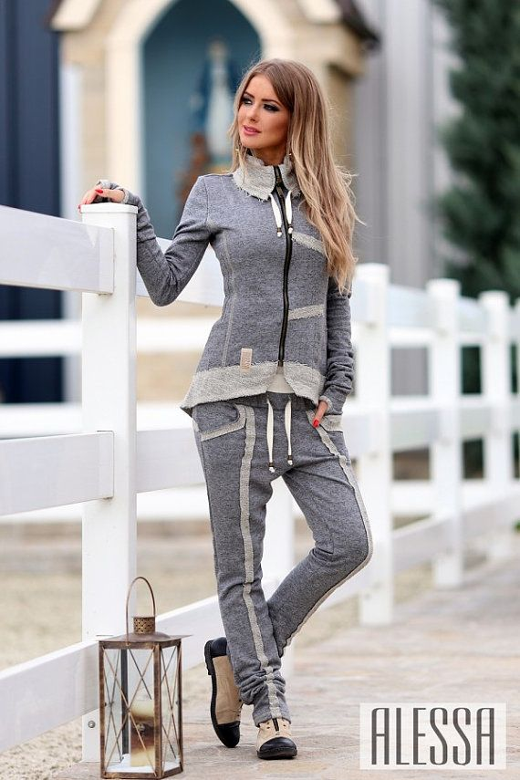 Designer+Tracksuit+Sportsuit+in+Grey+Melange++by+BoutiqueAlessa