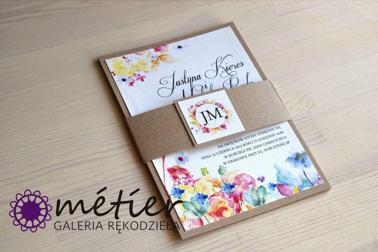Zaproszenia ślubne www.metier.pl: Rustykalne zaproszenia ślubne z jutową opaską