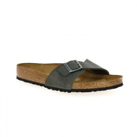Sandales kaki BIRKENSTOCK MADRID BESSEC - Bessec-chaussures.com
