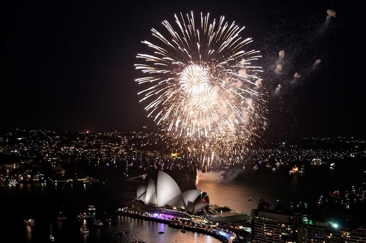 New Years Eve 2012.Fireworks over Sydney Harbour.