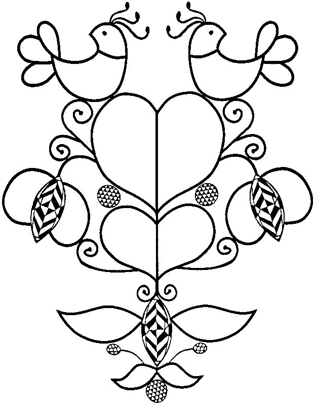 Pennsylvania Dutch Coloring Pages