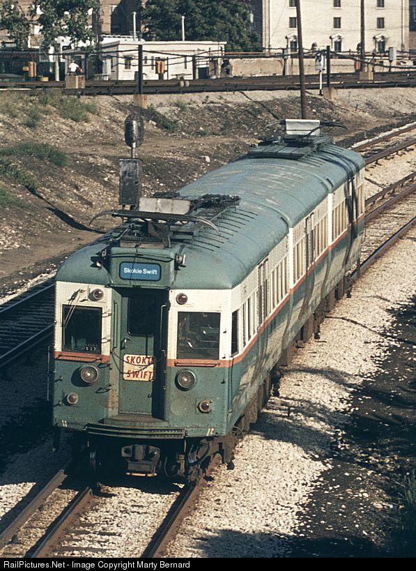 Skokie Swift: CTA 5000 Series Chicago Transit Authority Rapid Transit Car at Chicago, Illinois by Marty Bernard