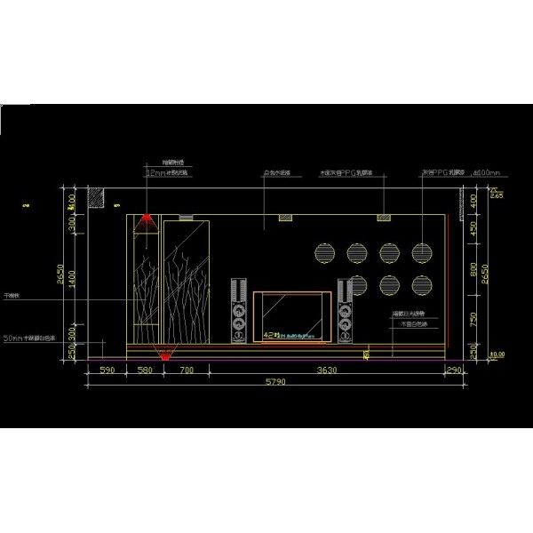 Living Room Design Drawing 2 - CAD Drawings Download http://www.boss888.net/autocadshop4/