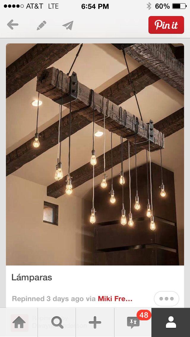 Brilliant way to hang Edison light bulbs... Simple made stunning!