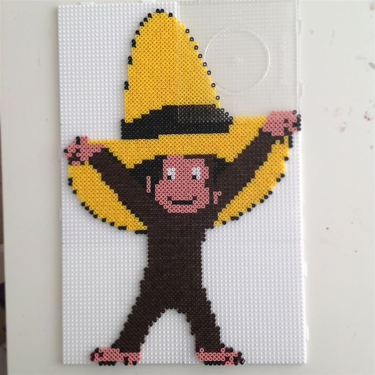 Curious George hama perler beads by Maja_4000