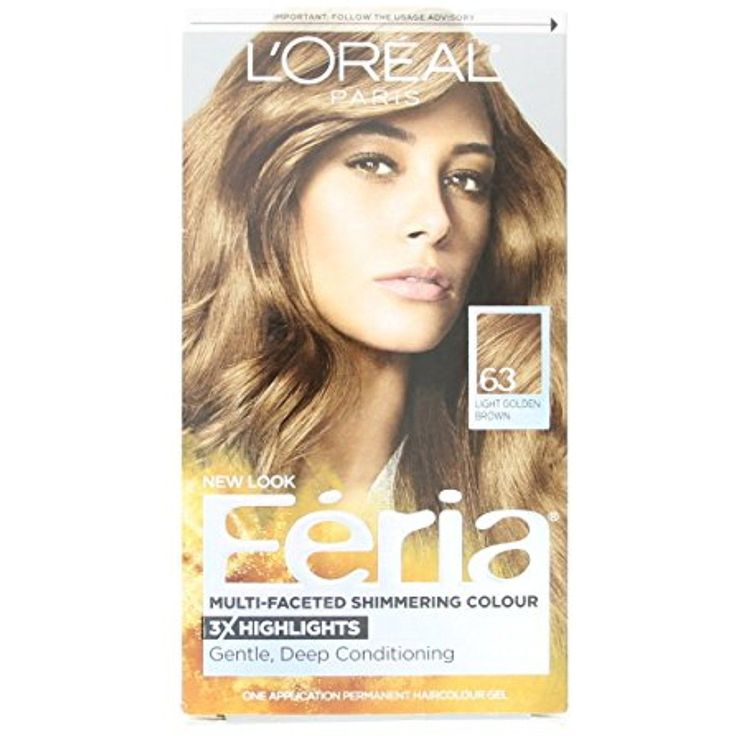L'Oreal Paris Feria Multi-Faceted Shimmering Color, Light Golden Brown [63] 1 ea (Pack of 3) >>> Find out more about the great product at the image link. (This is an affiliate link and I receive a commission for the sales) #HairColoringProducts