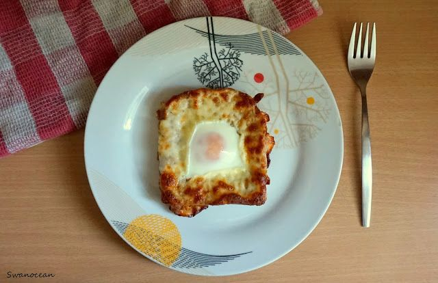 Swanocean: Egg in a toast for the easiest breakfast ever-Αυγό...