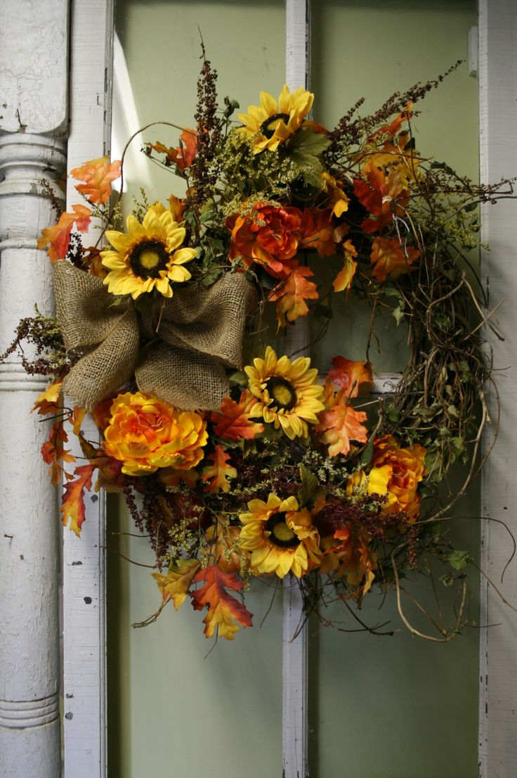 Dried Flower Wreath Floral Wreath Front Door Wreath