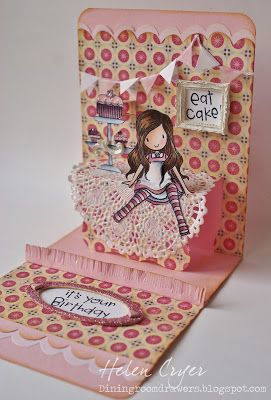 The Dining Room Drawers: Pink Girly Pop 'n Cuts card