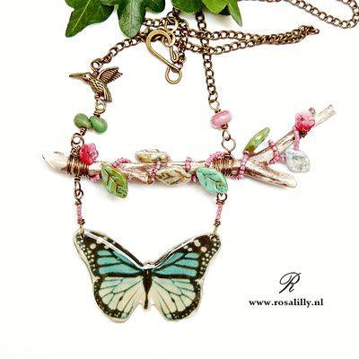 kettingen met vleugels, kettingen vlinder, ketting libelle, sieraden met een bijzonder ontwerp