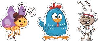 vetores da galinha pintadinha