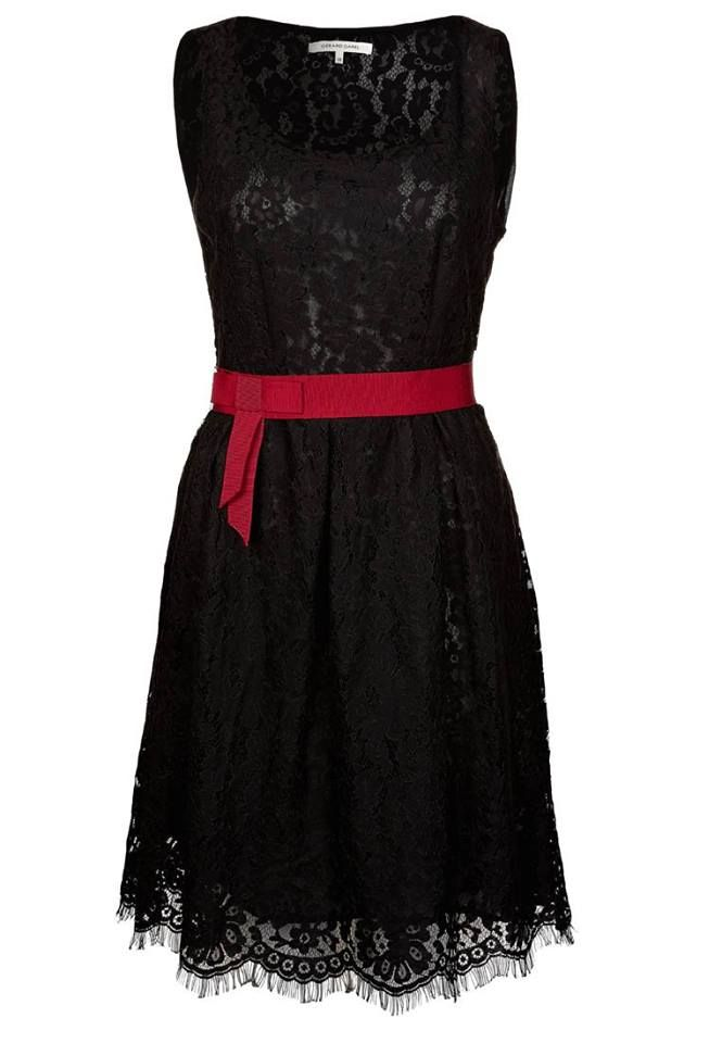This 60's inspired cocktail dress | Sleeveless A-line, lined lace dress in black. Simple & elegant. Price on request.