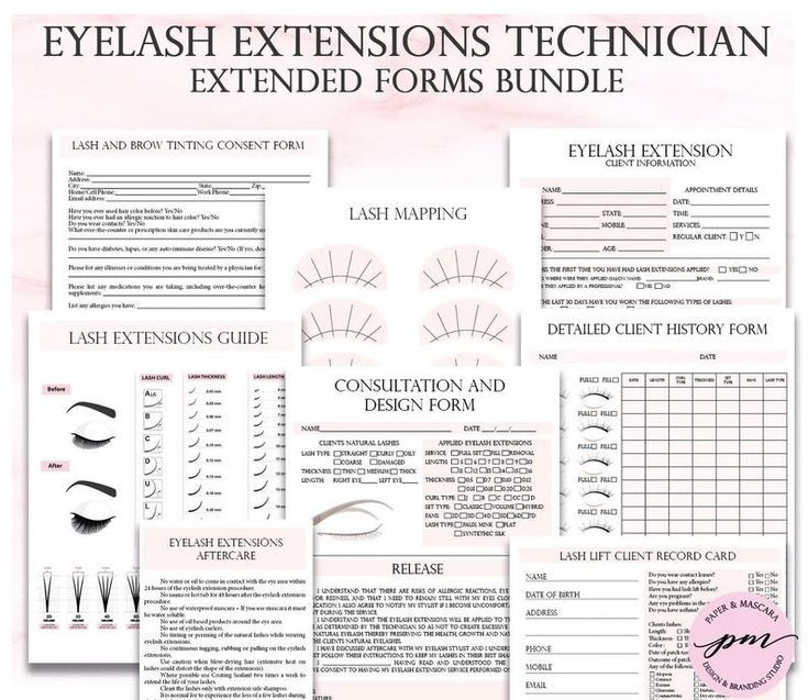 Pink Eyelash Extensions Technician Forms Printable Client Etsy In 2021 Eyelash Extensions Eyelash Extension Training Lash Extensions