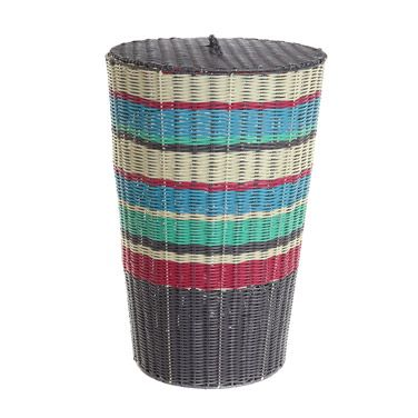 silver Carolyn Donnelly Eclectic Laundry Basket