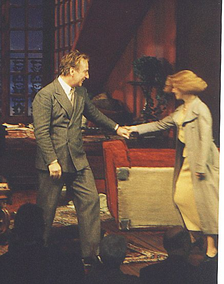 """Alan Rickman and Lindsay Duncan in the Broadway play """"Private Lives""""   2001-2002"""
