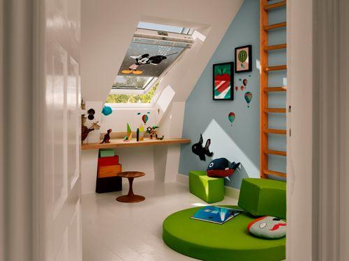 La stanza dei giochi, anche quando lo spazio non c'è, nell'ambientazione Velux