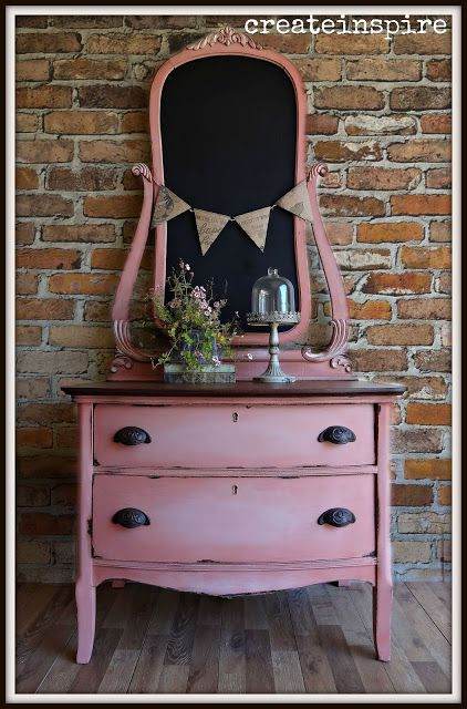 {createinspire}: Antique Chest of Drawers in Scandanavian Pink