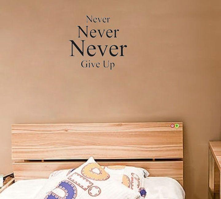 Большие Английские Слова Никогда Не Сдаваться Вдохновляющие Стены Наклейки Высокое Качество Съемный Обои Для Детской Комнаты