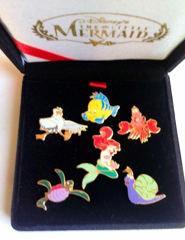 Disney Pin 1829 Little Mermaid & Ocean Friends Boxed Set (6 Pins) Ariel