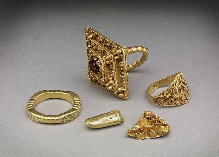 Hoard of Anglo-Saxon rings found at Leeds, West Yorkshire