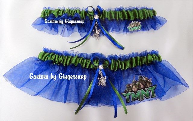Teenage Mutant Ninja Turtles Wedding Garters