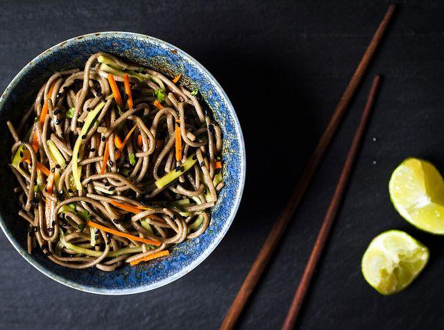 soba noodle bowl by carey nershi, via Flickr