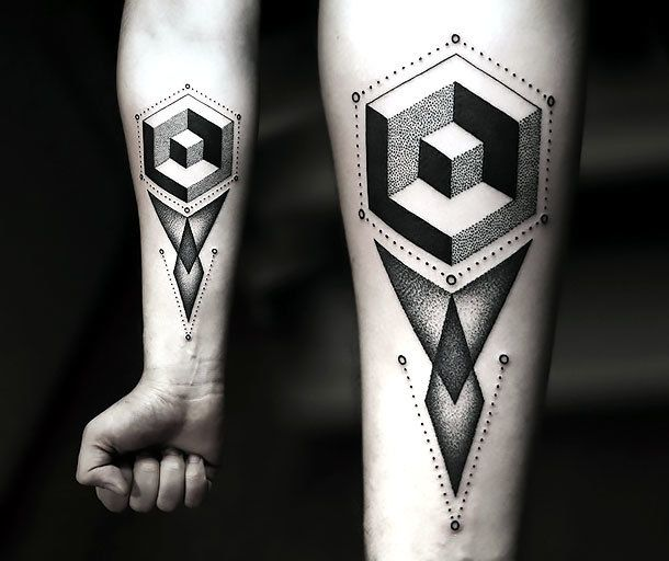 The Best Geometric Tattoo With Colour Ideas On Pinterest - Minimal geometric tattoos brought to life with bursts of colour